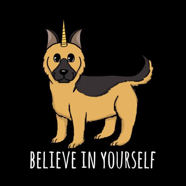 German Shepherd Believe In Yourself Unicorn