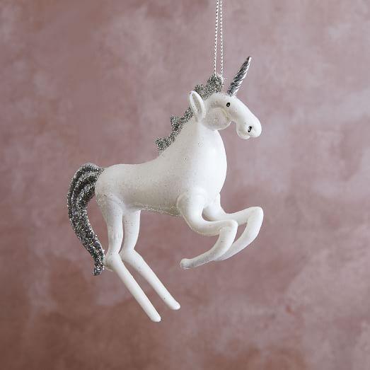 Glass Unicorn Ornament