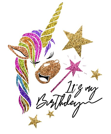 Glitter Unicorn  It's My Birthday