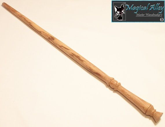 Harry Potter Style Spalted Sycamore Wood Magic Wand