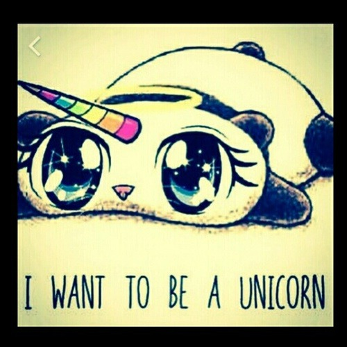 I Want To Be A Unicorn On We Heart It