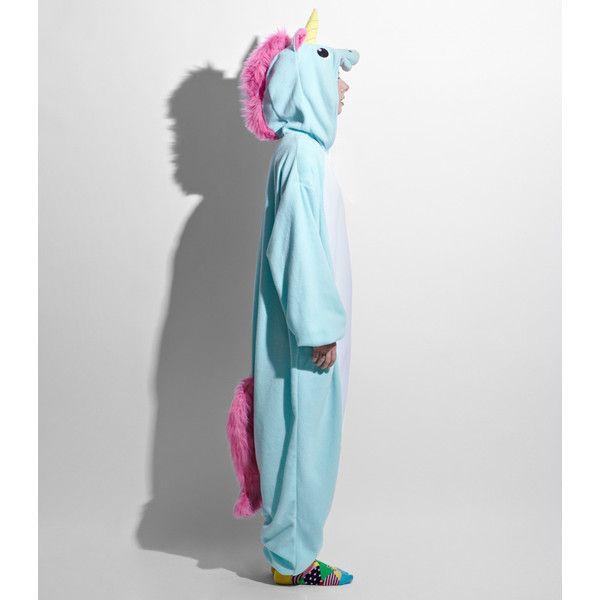Japanese Unicorn Kigurumi Costume ($64) ❤ Liked On Polyvore