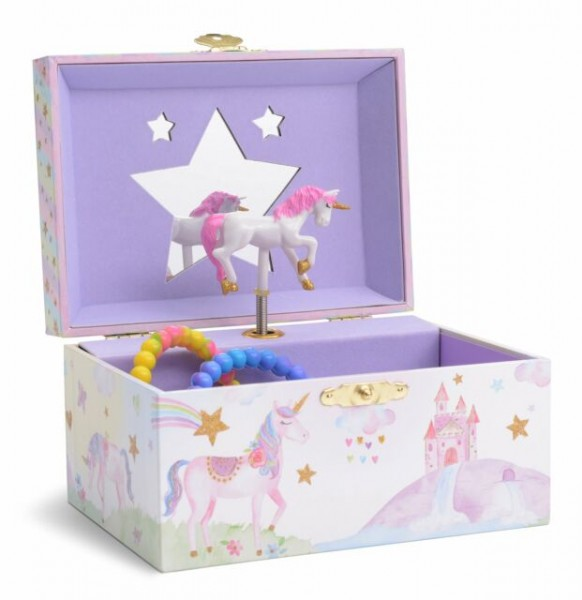 Jewelkeeper Girl's Musical Jewelry Storage Box With Spinning