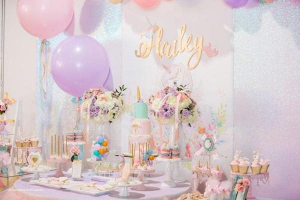 Kara's Party Ideas Sparkly Baby Unicorn Birthday Party