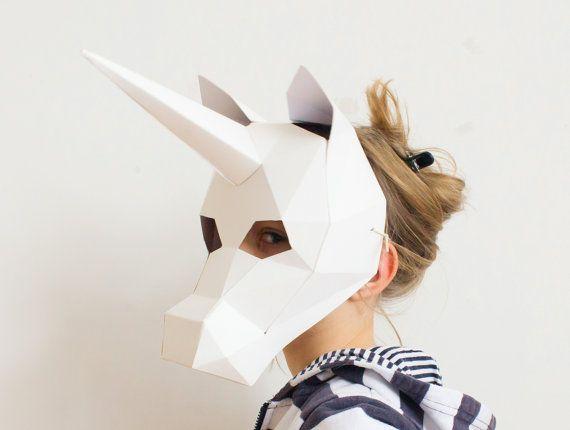 Kids Mask, Unicorn Mask, Unicorn Costume, Halloween Costume Kid