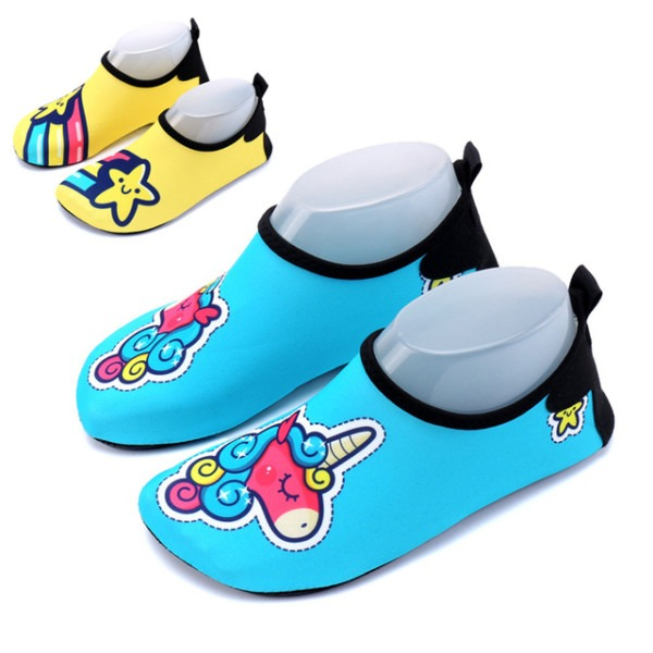 Kids Unicorn Shoes Children Beach Slippers Girls Water Shoes For