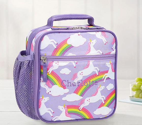 Lavender Unicorn Kids Lunch Box