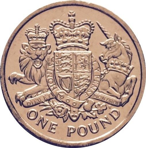 Lion And Unicorn Pound Coin