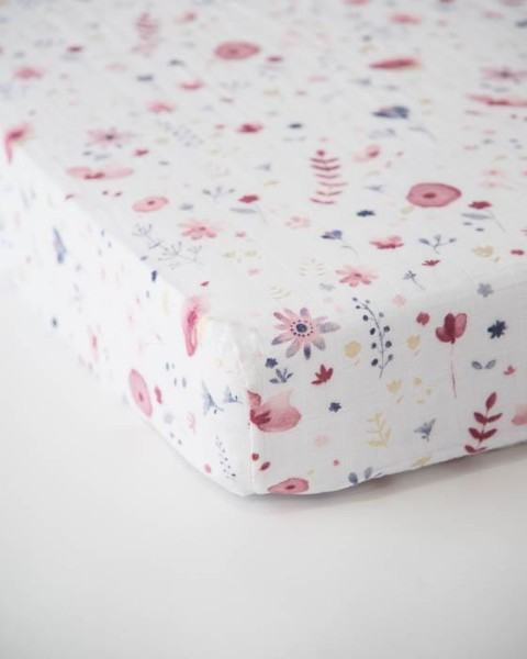 Little Unicorn Cotton Muslin Crib Sheet Fairy Garden