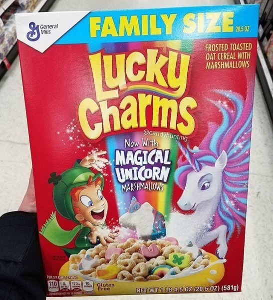 Lucky Charms Cereal Now With Magical Unicorn Marshmallows