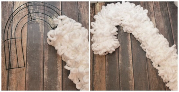 Make A Loopy Yarn Unicorn Wreath