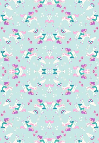 Mermaid And Unicorn Wallpaper