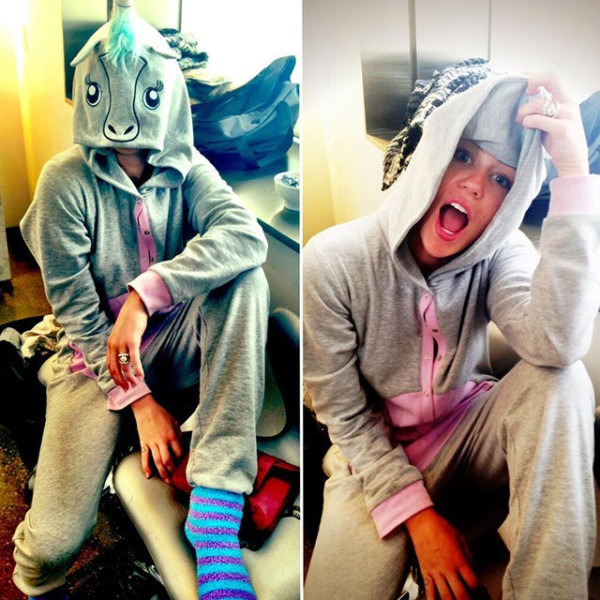Miley Cyrus Twerks In A Unicorn Onesie Because She's Awesome
