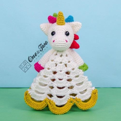 Nuru The Unicorn Security Blanket Crochet Pattern