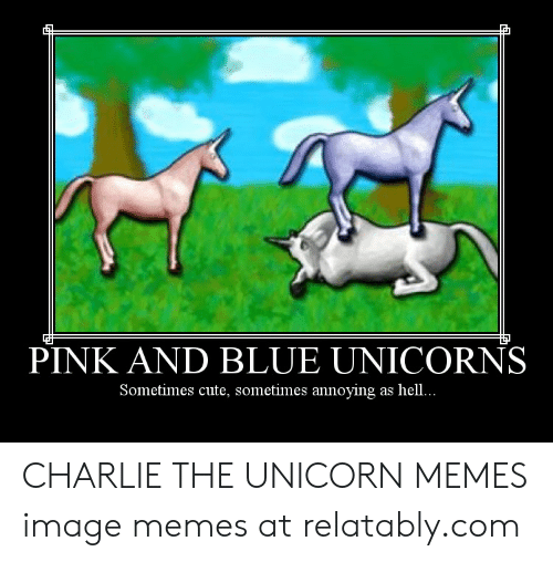 è¿¿ Pink And Blue Unicorns Sometimes Cute Sometimes Annoying As