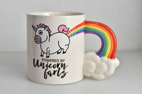Powered By Unicorn Farts Mug From Bigmouth Inc  Powered By Unicorn