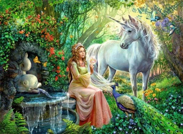 Princess And Unicorn Jigsaw Puzzle