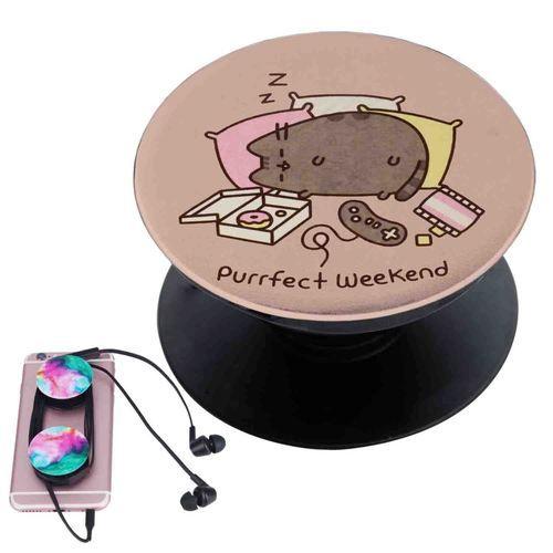 Pusheen Cat Sleep Custom Popsocket Pop Out Grip Stand Pop Socket