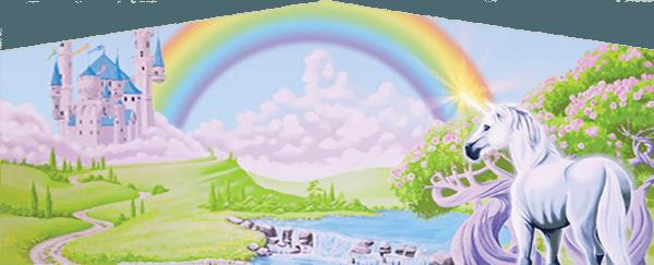 Rainbow Unicorn Art Panel From Austin Bounce House Rentals