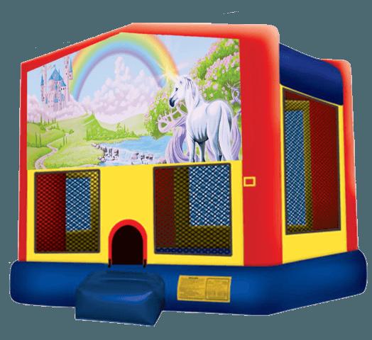 Rainbow Unicorn Bounce House Rentals In Austin Texas From Austin