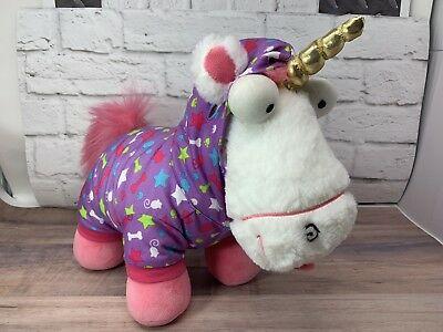 Retired Build A Bear Plush 14  Despicable Me Agnes Fluffy Unicorn