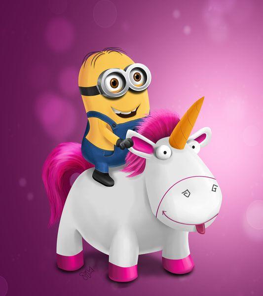 Riding My Pink Unicorn Into 2015!  Minions  Pink  Unicon  2015