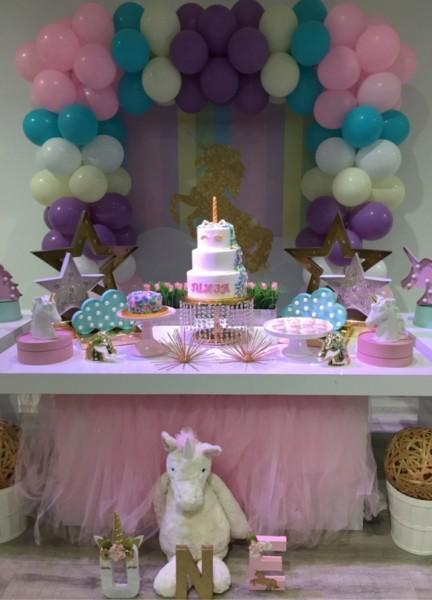 Rock Star Pastries » Rainbow Swirl Unicorn 1st Birthday