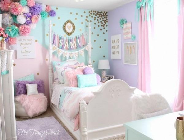 Sami Says Ag & The Fancy Shack Girls Pastel Bedroom Room Makeover