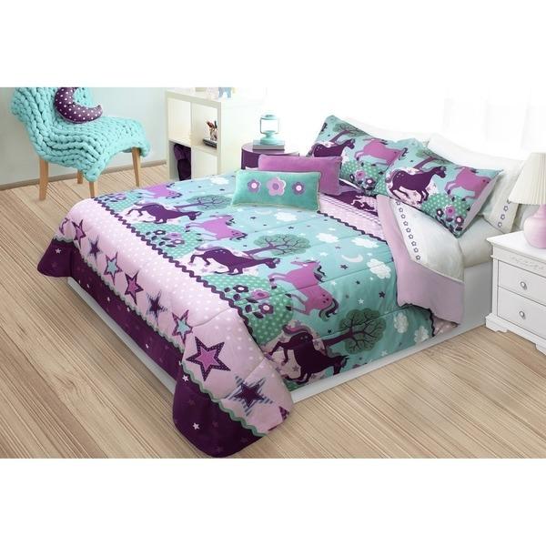Shop Unicorn 3 Piece Comforter Set On Sale Free Cotton Quilt Sets King