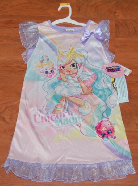 Shopkins Limited Edition Mystabella Unicorn Club Pajama Pjs Dress