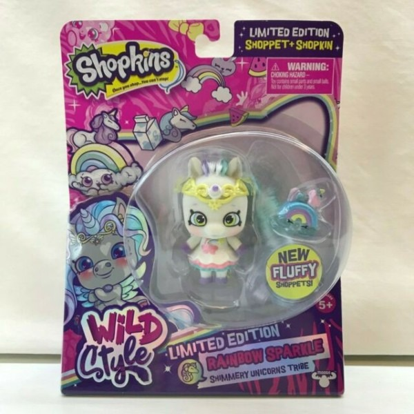 Shopkins Wild Style Shoppet Unicorn Rainbow Sparkle Limited