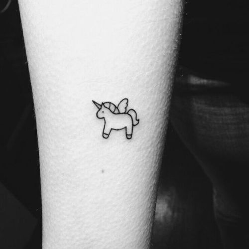 Small Tiny Tattoo Unicorn Shared By Marine Sandei