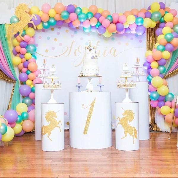 ☁ Sophia's First Birthday☁ Unicorn Theme 1st Birthday