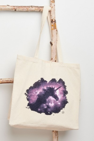Stardust Unicorn Reusable Tote Bag