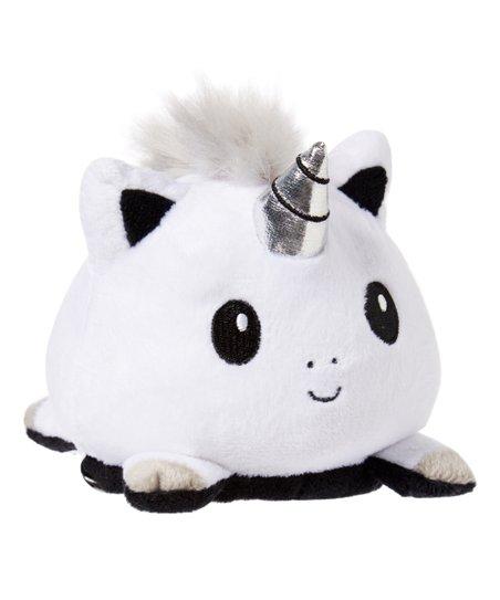 Teeturtle White & Black Reversible Unicorn Mini Plush Toy
