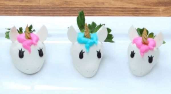 These Unicorn Covered Strawberries Are The Perfect Party Snacks