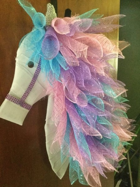 This Beautiful Wreath Is A Magical Unicorn Which Every Girl Dreams