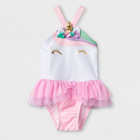 Toddler Girls' One Piece Swimsuit With Bow