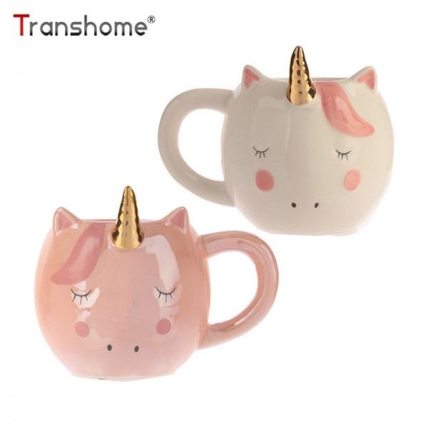 Transhome Creative Unicorn Mug For Coffee Travel Cup 3d Unicorn