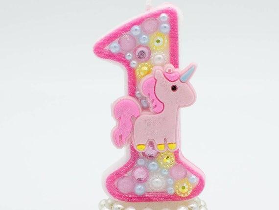 Unicorn Birthday Candle   Unicorn 1st Birthday   Unicorn 2nd