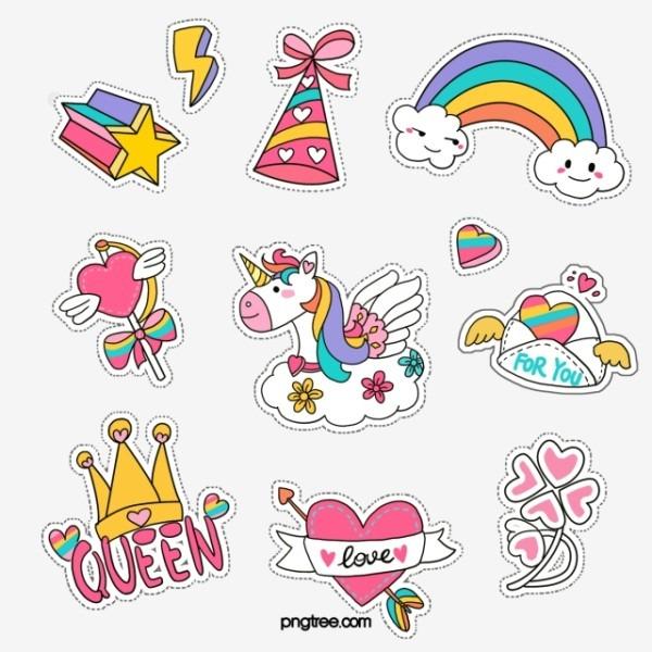 Unicorn Care Sticker, Envelope, , Clover Png Transparent Clipart