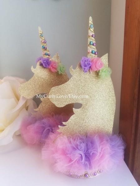 Unicorn Centerpiece Unicorn Birthday Unicorn Baby Shower