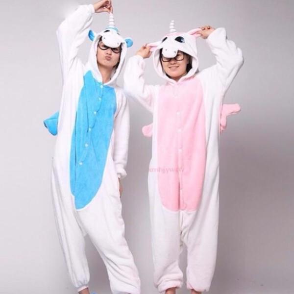 Unicorn Couple One Piece Onesie Jumpsuit Pyjamas, Women's Fashion