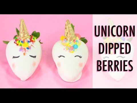 Unicorn Dipped Strawberries