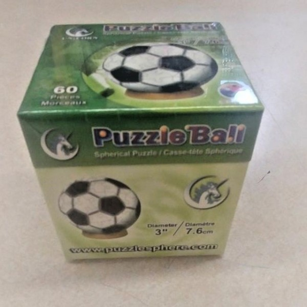 Unicorn Enterprises A13643 Soccer Ball 3 Inch Puzzle Sphere 60 Pc