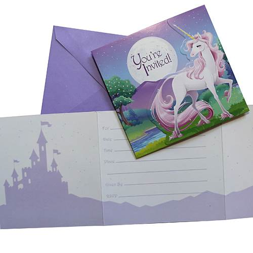 Unicorn Fantasy Invitations (set Of 8)