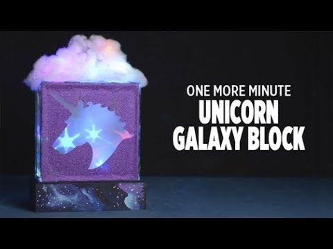 Unicorn Galaxy Glass Block