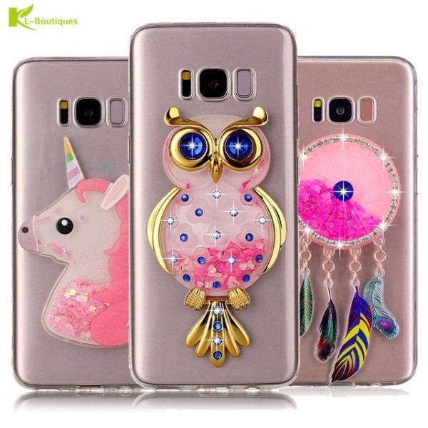 Unicorn Glitter Dynamic Liquid Case Sfor Funda Samsung Galaxy S8