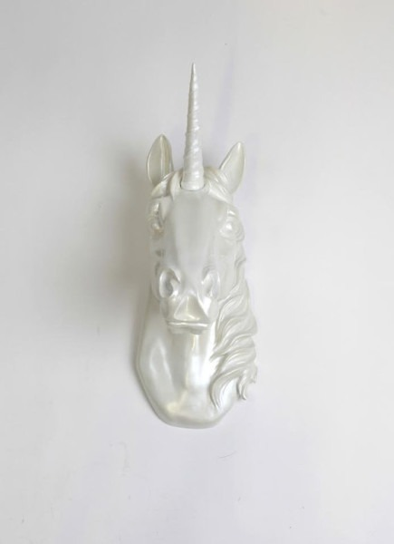 Unicorn Head Wall Mount The Bayer In Iridescent Pearl By