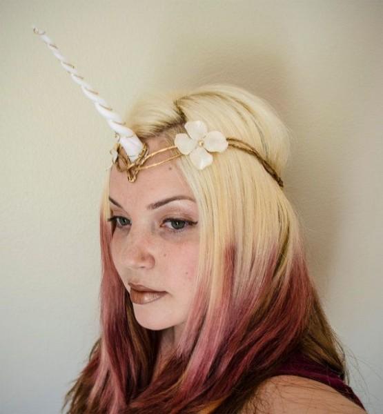 Unicorn Horn Headpiece Custom Color Options By Frecklesfairychest